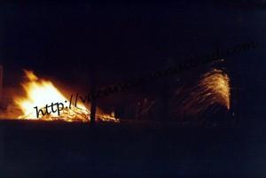 Le feu pour Guy Fawkes' Night